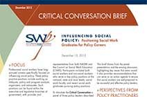 SWPI Convenes Critical Conversation on Positioning Social Work Graduates for Policy Careers