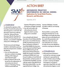Social Work Policy Institute Releases Report on Advanced Practice Doctoral Degrees in Social Work